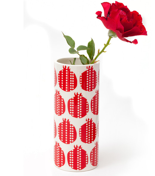 Retro Pomegranate design Flower Vase