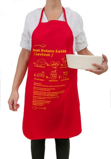 Hanukkah potato Latkes kosher red apron. Hanukkah gifts Happy Hanukkah with this easy to follow recipe
