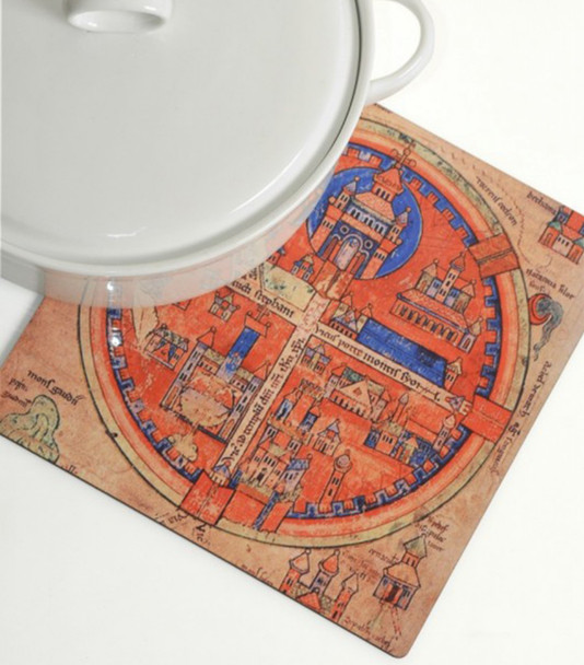 Trivet for the kitchen- Four Sections of Ancient Jerusalem