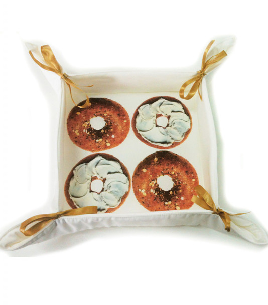 Bagels design cotton Bread  Basket for the jewish home