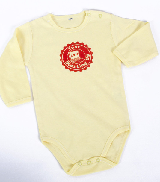 """Just Starting Up"" Onesie"