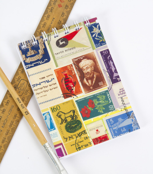 Israeli Stamps Notepad and Notebook