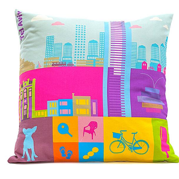 Tel-Aviv on the Go Cushion