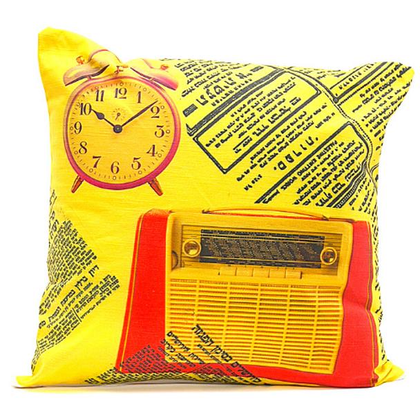 Retro Yellow Tel-Aviv - Cushion