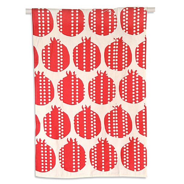 Rosh Hashanhah Pomegranate print Dish Towel
