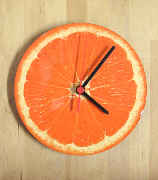 Clock - Orange Slice