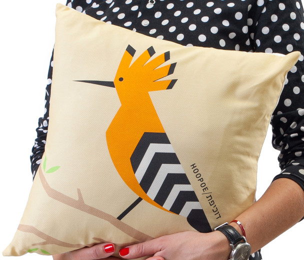 Cushion - 'Flights of Fancy' Hoopoe Bird