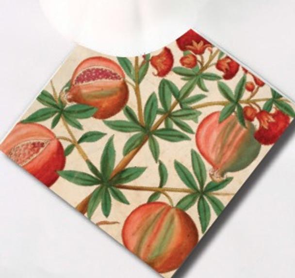 Pomegranate And Flower Hot Pot Trivet/Stand