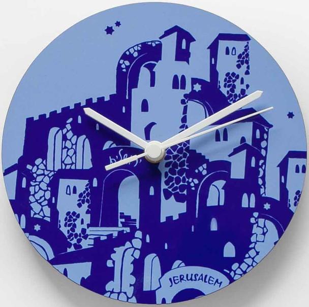 Jerusalem Silhouette wooden clock