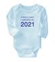 Baby Boy Onesie 3mths I arrived in 2021 pure Cotton Brit Present