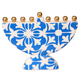 Abundant with light Hanukkah themed large gift box