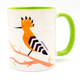 Hoopoe 'Flights of Fancy'  Birds of israel green coffee Mug | Barbara Shaw Jewish Gifts