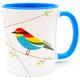 Bee-Eater bird of Israel  'Flights of Fancy' Blue Mug | Barbara Shaw Jewish Gifts