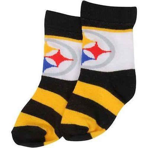 competitive price b065c 7caff Pittsburgh Steelers Infant Rugby Block Socks