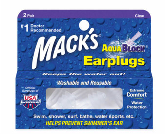 Aqua Block Ear Plug Clear