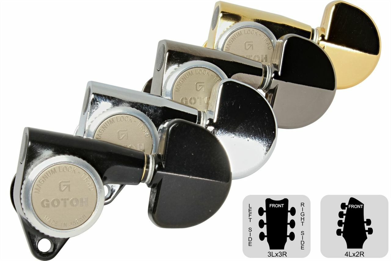 Gotoh SG381 Traditional Magnum Locking Tuners 3 x 3 Chrome, 20