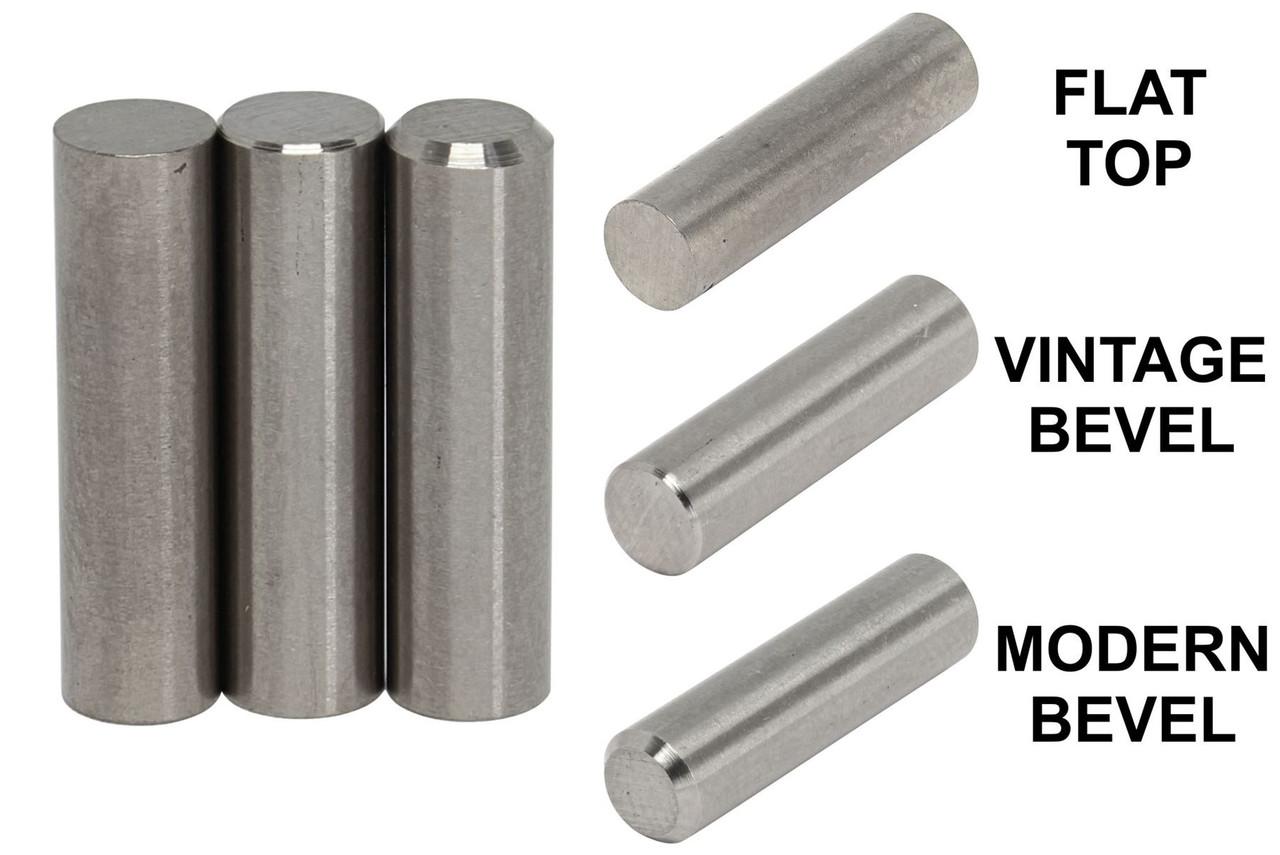 """Alnico 3 Vintage Bevel Rod Magnet Staggered Set .187/"""" diameter"""