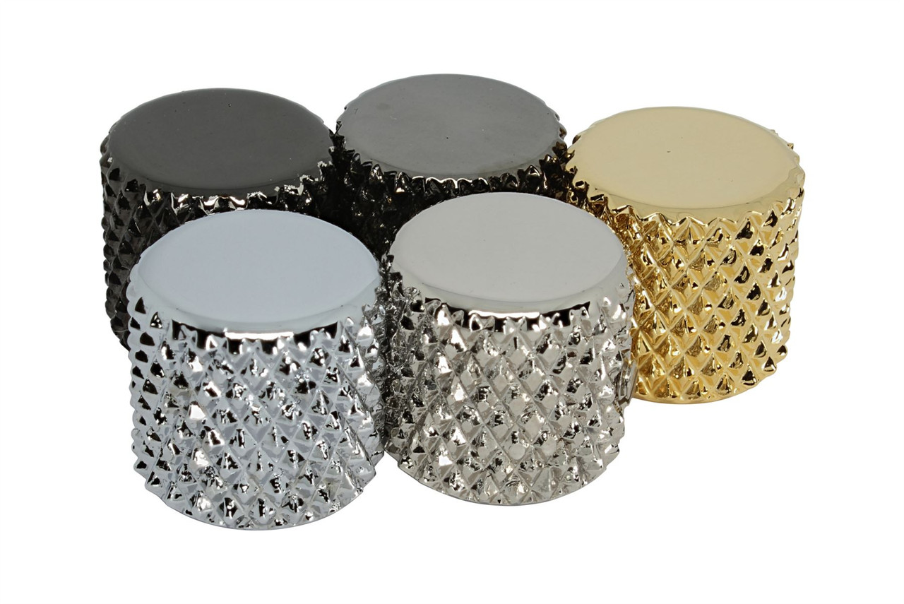 """3x Black Vintage Tele Style Knobs Super Heavy Knurling For 1//4/"""" Solid Shaft NEW!"""