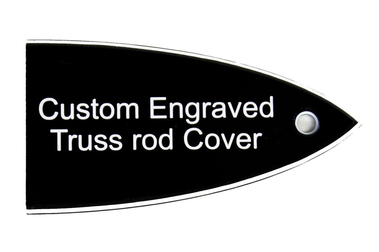 ESP TRUSS ROD COVER name plate for ESP LTD guitar Silver