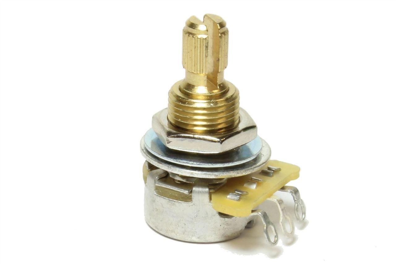 Qty 20-500K CTS Audio Taper Tone//Volume Mini Pot NEW Split Shaft