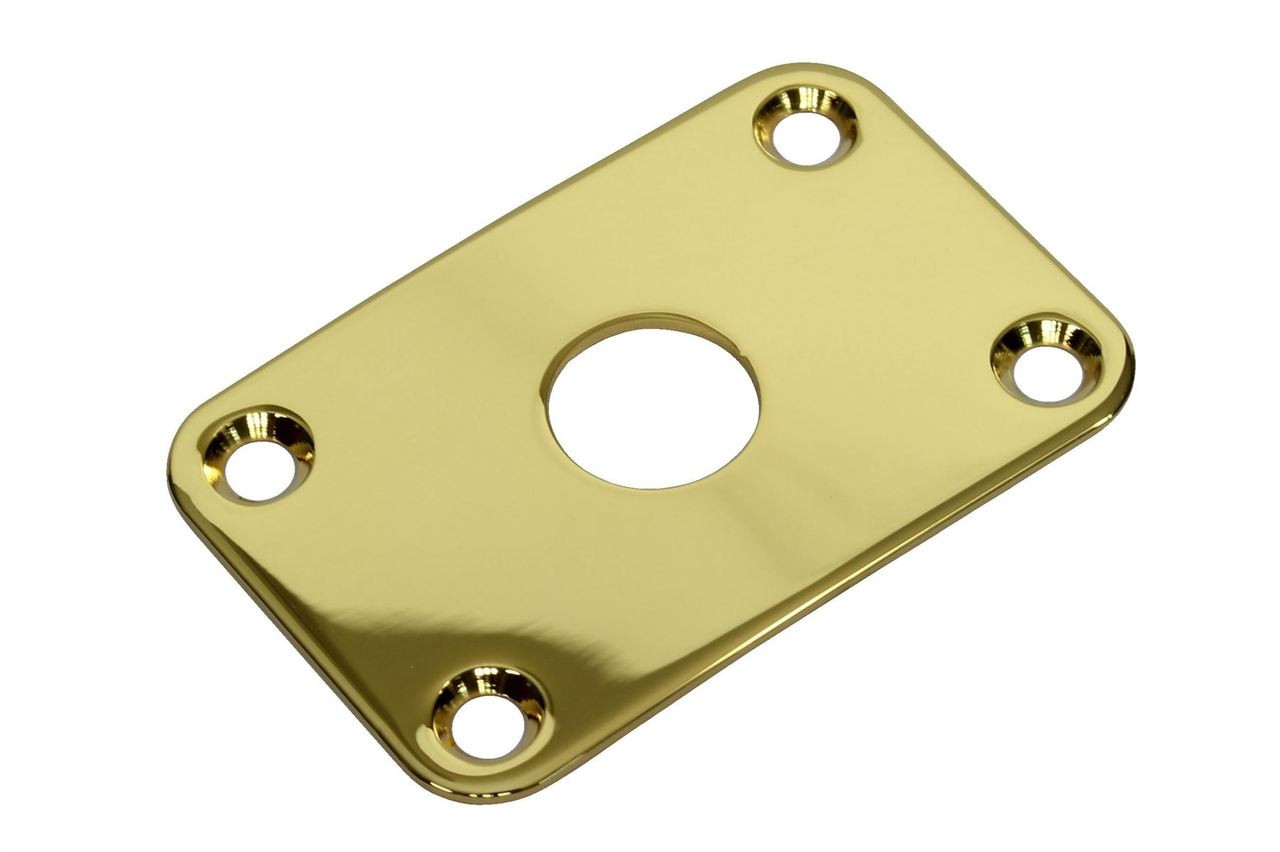 Gibson Metal Jack Plate Gold