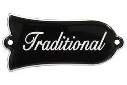 Engraved Traditional truss rod cover