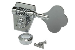 Left side vintage bass guitar tuning machine - Chrome