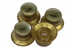Gold reflector knobs with smooth gold reflectors - Fine spline