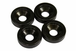 Black 15mm diameter neck ferrules