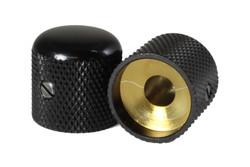 "Metal knob for 1/4"" solid shaft pots"