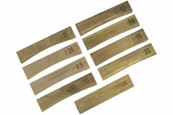 Fret Press Inserts - Brass - Individual