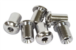 Chrome plated top mount string ferrules
