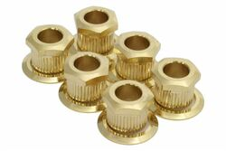 "Kluson hex head conversion bushings for 1/4"" sting posts - Gold"