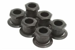 Kluson hex head conversion bushings for 6mm sting posts - Black