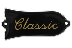 """Classic"" engraved truss rod cover - Gold color fill"