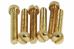 Vintage PAF Pole screws 1010 steel - Gold