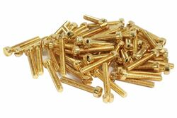 Vintage PAF Pole screws 1010 steel - Gold - Qty 60