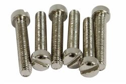 Vintage PAF Pole screws 1010 steel - Nickel