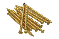 Gold plated P90 mounting screws #2 x 1.5""