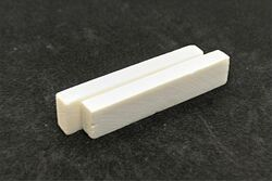 "Bone Nut Blanks - 2.22"" x .47"" x .25"" - 2 pack"
