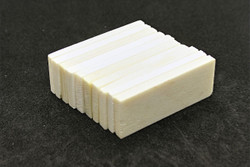 "Bone Nut Blanks - 2"" x .75"" x .2"" - 10 pack - dobro"