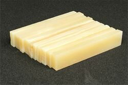 "Bone Nut Blanks -Unbleached Vintage Bone - 2"" x .4"" x .14"" - 10 pack"