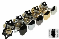 GOTOH SXB510-06M Open Back Guitar Tuning Machines - Set