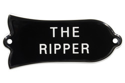 "Engraved ""THE RIPPER"" Truss Rod Cover for Gibson Bass Guitars - 2ply B/W"