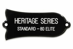 "Engraved ""HERITAGE SERIES STANDARD - 80 ELITE"" Truss Rod Cover for Gibson - 2ply B/W"