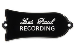 """Engraved """"Les Paul RECORDING"""" Truss Rod Cover for Gibson Guitars - 2ply B/W"""