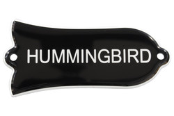 "Engraved ""HUMMINGBIRD"" Truss Rod Cover for Gibson Guitars - 2ply B/W"
