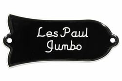 "Engraved ""Les Paul Jumbo"" Truss Rod Cover for Gibson Guitars - 2ply B/W"