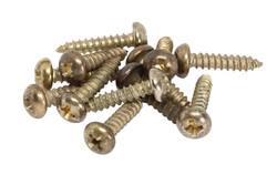"Brass plated ""STEEL"" Baseplate screws"