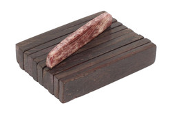 "Dyed Bone Nut Blanks - Chocolate Brown  - 2"" x .4"" x .14"" - 10 pack"